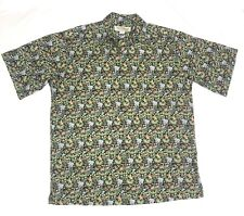 Tori Richard Mens Small Cotton Lawn Multicolor Animal Jungle Print Shirt