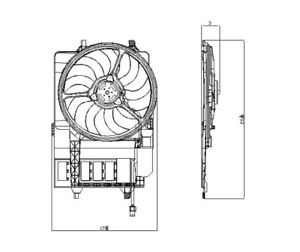 Dual Radiator and Condenser Fan Assembly TYC 621980 fits 02-03 Mini Cooper