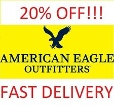 American Eagle COUPON 20% OFF Purchase - WEB CODE, FAST eDELIVERY * Exp 11/11/20