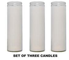 White Paraffin Wax Candles 3 Pack / Veladora Blanca religiosa para Santeria