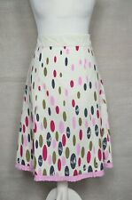 JOULES Cream spotty print flared/a-line floaty skirt UK 10