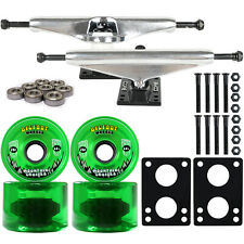 LONGBOARD Trucks/Wheels/Bearings SILVER 6.0 + BIGFOOT 76MM CRUISERS GREEN