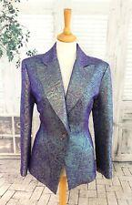 CHRISTIAN LACROIX BAZAR Purple pearlescent jacket size 14