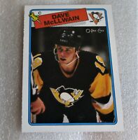 Dave McLlwain RC 1988-89 O-PEE-CHEE ROOKIE Card #132!  Pittsburgh Penguins VG-NM