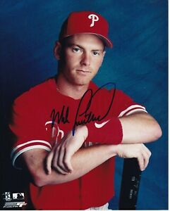 PHILADELPHIA PHILLIES MIKE LIEBERTHAL SIGNED 8 X 10 PHOTO  w COA