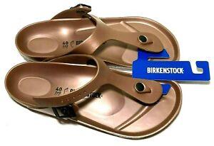Birkenstock Womens 9-9.5 Gizeh Eva T-Post Flip Flop Sandals Copper Mens 7-7.5