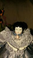 Antique Hertwig Doll with Pretty Lavender Dress