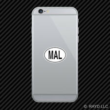 MAL Malaysia Country Code Oval Cell Phone Sticker Mobile Malaysian euro