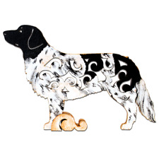 Stabyhoun dog figurine, hand-paint