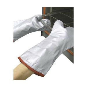 Polyco Teflon Mitt Silver Teflon Coated Mitt Lined With Felt Fabric Large 38cm