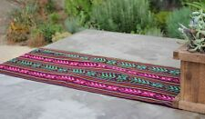 """Mexican Rebozo Serape Aztec Table Runner 80"""" by 14"""".  Choose from many colors"""