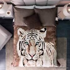 White Tiger Blanket Fleece Sherpa Comforter Gift Teens King Decoration Gift New