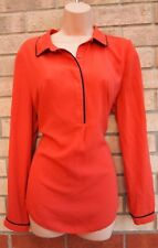 DOROTHY PERKINS CORAL TERRACOTTA LONG SLEEVE T SHIRT BLOUSE TUNIC TOP 16 XL