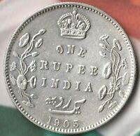 1905 Emperor Edward British India Rupee- 91.7% AG~ Beauty Details~~