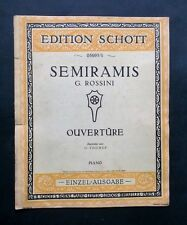 Musica Spartito - Semiramis Ouverture - G. Rossini - Spartito per pianoforte