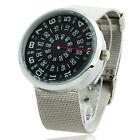 Creative Rotary Dial Design Luxury Sport Men Quartz Wrist Watch Mesh Band JP3