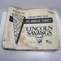 Thomas Bros Popular Street Atlas Map Los Angeles County 1978 Edition Lincoln