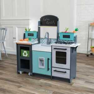 Kidkraft Garden Gourmet Play Kitchen with EZ Kraft Assembly™   Wooden Kitchen