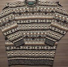 Tundra Canada Native Aztec Sweater Wool Blend Geometric Navajo Size Large