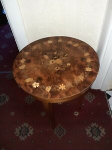 Italian Marquetry Small Jewellery Musical Table