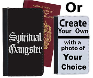 Spiritual Gangster Passport Holder Thug Life Sign Funny Thugs Gangsters C844