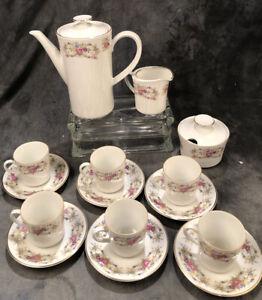 Winterling Marktleuthen Bavaria Demitasse Espresso Coffee Set 15 Pc.