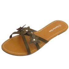 Sandalias y chanclas de mujer sin marca color principal marrón