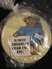 """North American Bear LARGE Button 6"""" diameter Pin & Easel Back ~ NEW in BAG"""