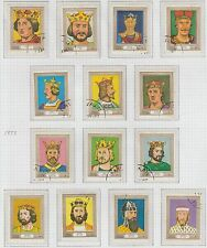 Davaar Island Kings and Queens set of 14 Stamps Excellent Condition 1977
