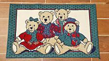 Teddy Bear Door Mat for Winter Holiday Season 3' x 2' Doormat Christmas