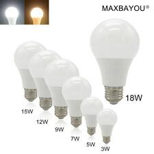E27 B22 E14 LED Globe Bulb Lamp Light 3W 5W 6W 7W 9W12W15W18W20W Cool Warm White