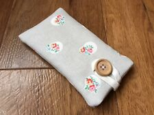iPhone 5 5S 5C SE Fabric Padded Case Cover - Cath Kidston Stone Floral Spot