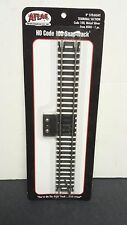 """9"""" straight section Terminal Code 100 Nickel Silver Track  Atlas Railroad 840"""