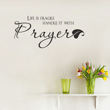 Life Is Fragile Handle It With Prayer Wall Decal Quote Saying Christian Decor