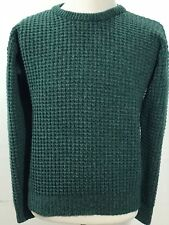Woolrich Sweater  Wool Blend Green Ribbed Knit Crew-neck men's size L