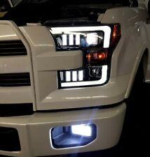 2015-2017 Ford F150 RECON Smoked Black Projector Headlights w/ LED Light Trim