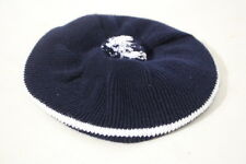 SAKS FIFTH AVENUE 100% Cotton Navy & White Beret, Youth Size 18mths, England-B28