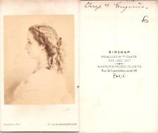 CDV Bingham, Paris, Impératrice Eugénie, épouse de Napoléon III, circa 1860 Vint