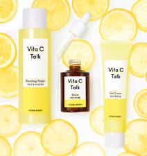 [Etude House] Vita C Talk Boosting Water / Serum / Gel Cream (Brightening)
