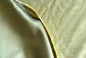 Zira Silk by Fryetts, faux silk, viscose/polyester, Olive, by the metre