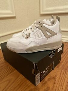 Jordan 4 Retro GP Little Kids Shoes White-Boarder Blue-Light Sand 487725-118 12c