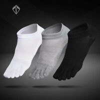 6 Pairs Mens Cotton Toe Socks Five Finger Solid Ankle Breathable Low Cut Sports