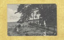 NY Long Island Sea Cliff postcard 1908-15 LOVERS AREA OF BOARDWALK New York