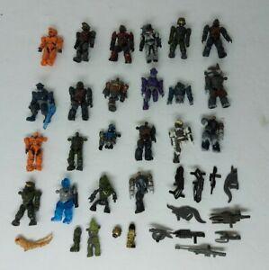 Halo Mega Bloks Construx Mini Figures And Weapons Lot Of 20