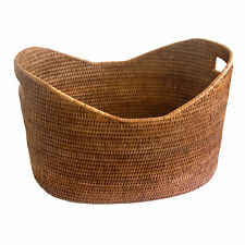 Fine Woven Oval Rattan Home Decor Storage Baskets in 3 Sizes