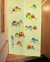 The Happy Owls Family House Decor Doorway Curtain Japanese Noren Hang Curtain