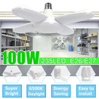 300W 30000LM 297 LED Garage Lights E26 Ceiling Lamps Sensor Deformable