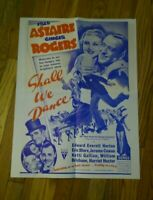 Shall We Dance Original Movie RKO Radio Posters Fred Astaire Ginger Rogers