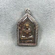 Pendant Phra Khun Paen Kuman thong Thai Amulet Buddha Good Lucky Love Charm Holy