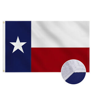 Embroidered Texas State Flag   3x5 Ft   Ships From The Lone Star State